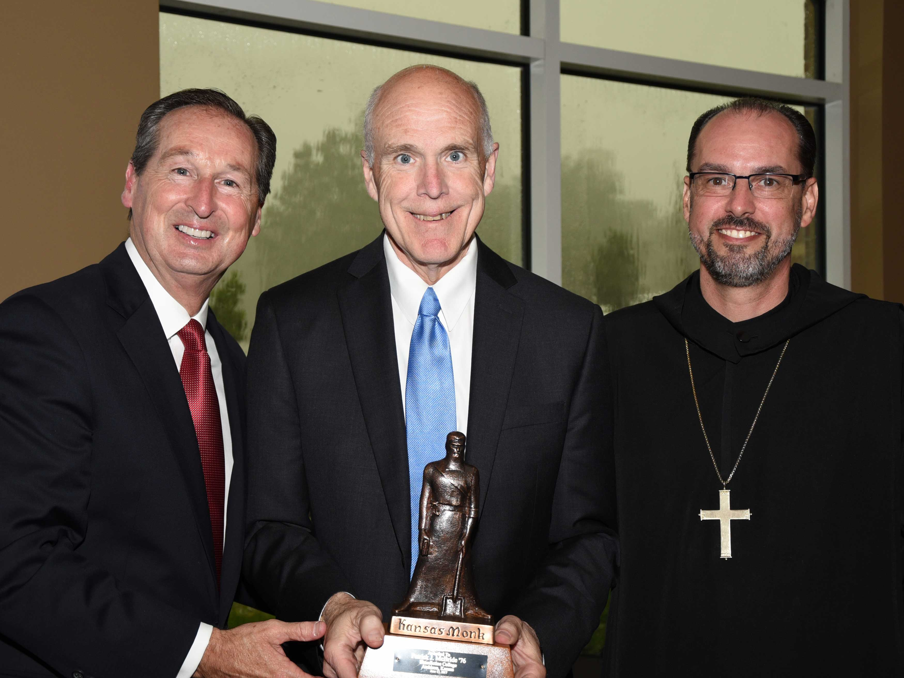 Pat McBride, recipient of the Kansas Monk Award from Benedictine College.