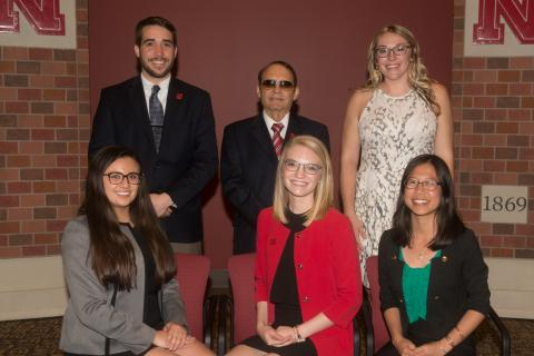 2017 Nebraska Outstanding Student Leadership Award finalists, not pictured: Angela Mercurio
