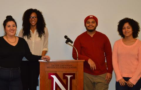 Students present at the Jackie Gaughan Multicultural Center
