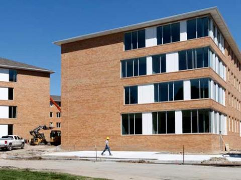 Construction of Massengale Residence Hall at Nebraska