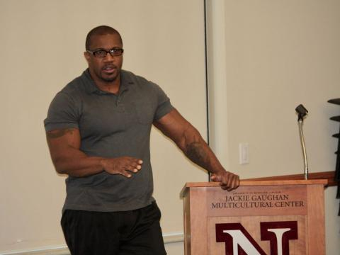 Mitchell Strong, Jr. speaks at the University of Nebraska-Lincoln
