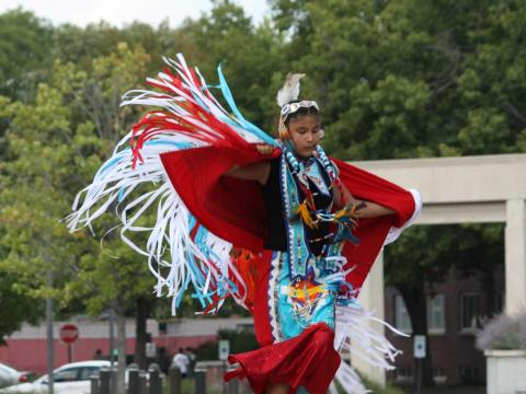 Native American dancing at OASIS kick off at the University of Nebraska