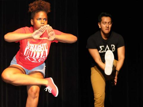 Delta Sigma Theta and Sigma Lambda Beta at University of Nebraska-Lincoln win the Stroll Off competition.