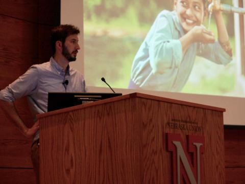 University of Nebraska-Lincoln Big Red Talk with Tyler Riewer of charity:water